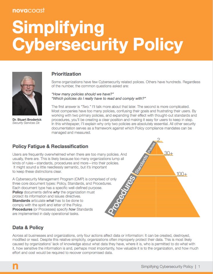 Simplifying Cybersecurity Policy