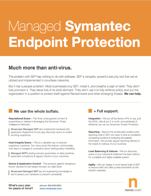 Managed Symantec Endpoint Protection